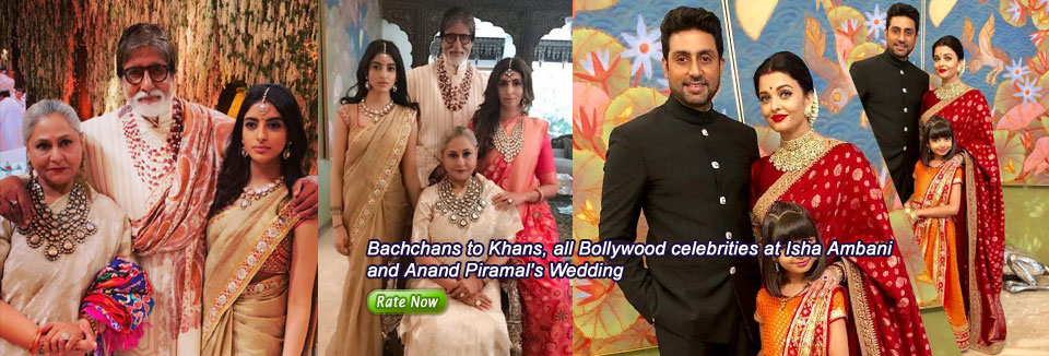 Bachchans to Khans, all Bollywood celebrities at Isha Ambani and Anand Piramal's Wedding