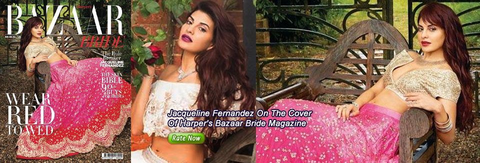 Jacqueline Fernandez On The Cover Of Harper's Bazaar Bride Magazine