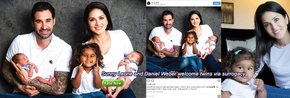 Sunny Leone and Daniel Weber welcome twins via surrogacy