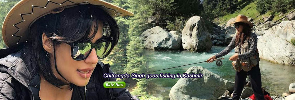 Chitrangda Singh goes fishing in Kashmir