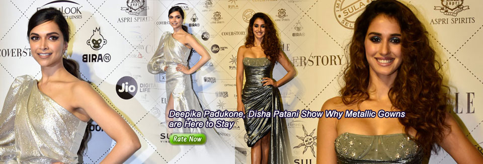 Deepika Padukone, Disha Patani Show Why Metallic Gowns are Here to Stay