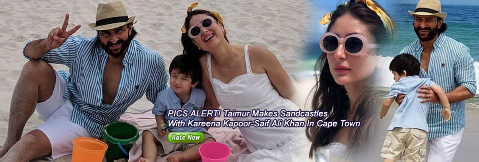 PICS ALERT! Taimur Makes Sandcastles With Kareena Kapoor-Saif Ali Khan In Cape Town