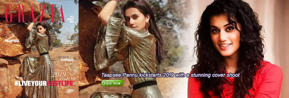Taapsee Pannu kickstarts 2019 with a stunning cover shoot