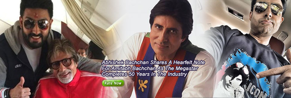 Abhishek Bachchan Shares A Hearfelt Note For Amitabh Bachchan As The Megastar Completes 50 Years In The Industry