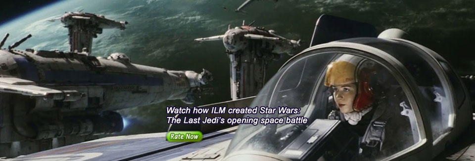 Watch how ILM created Star Wars: The Last Jedi's opening space battle