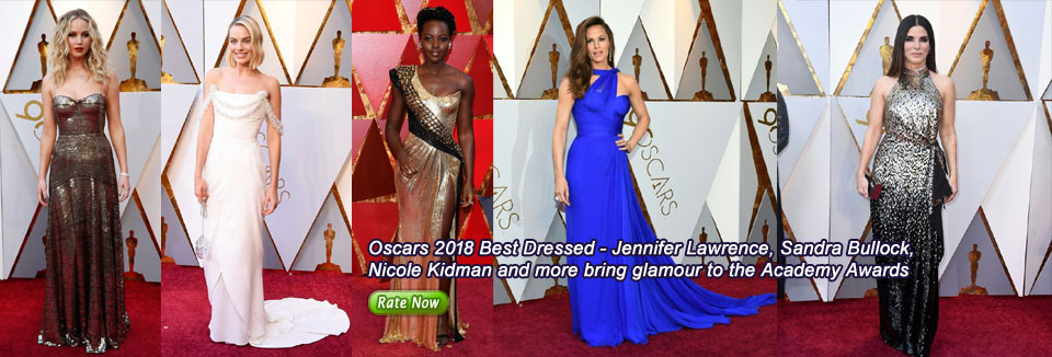 Oscars 2018 Best Dressed - Jennifer Lawrence, Sandra Bullock, Nicole Kidman and more bring glamour to the Academy Awards