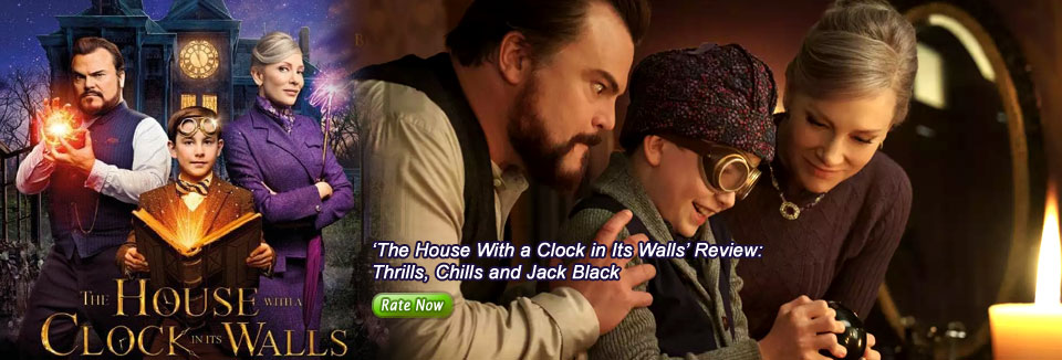 'The House With a Clock in Its Walls' Review:  Thrills, Chills and Jack Black