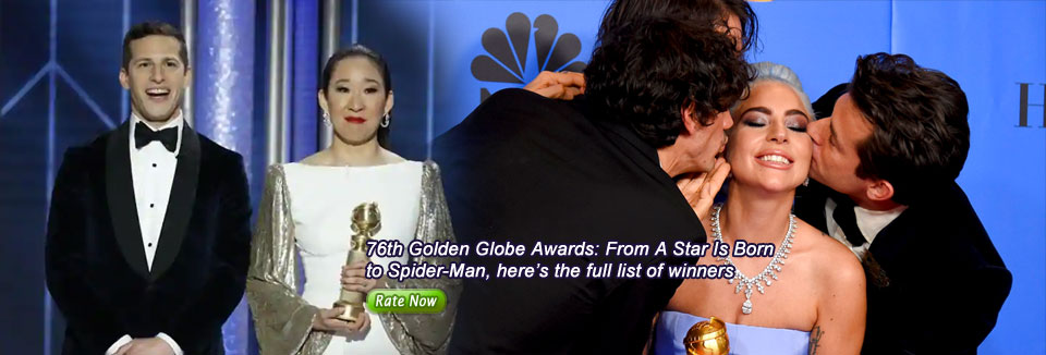76th Golden Globe Awards: From A Star Is Born  to Spider-Man, here's the full list of winners