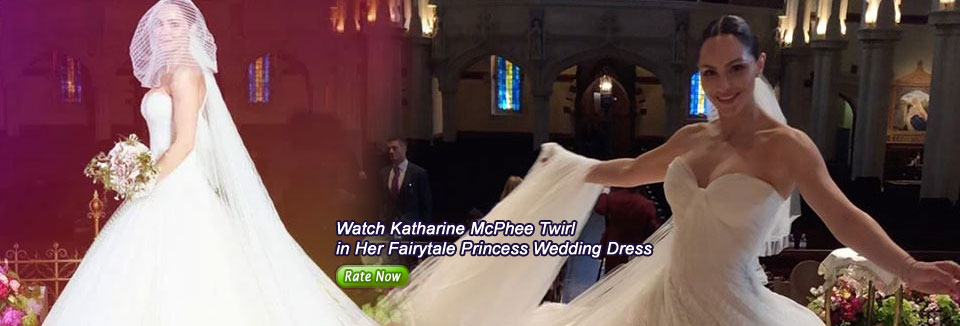 Watch Katharine McPhee Twirl in Her Fairytale Princess Wedding Dress